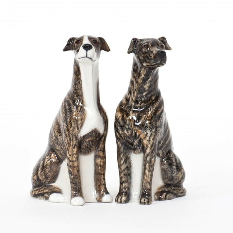 Quail Ceramics: Salt & Pepper Pots: Brindle Greyhound