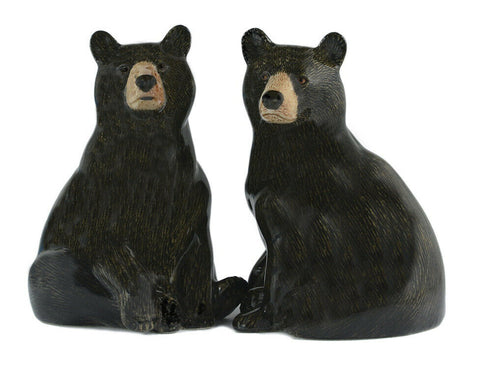 Quail Ceramics: Salt & Pepper Pots: Brown Bears