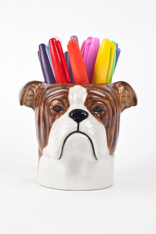 Quail Ceramics: Pencil Pot: Bulldog
