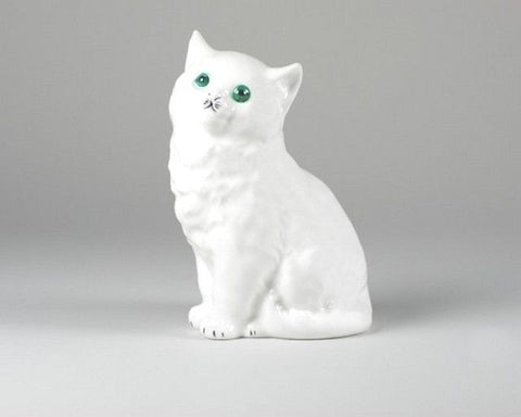 Cmielow Porcelain Cat Lost in Thought