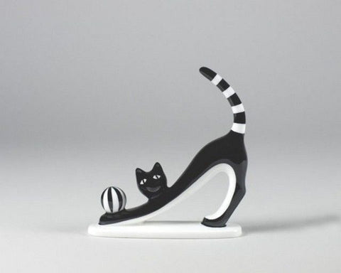 "Cmielow Porcelain – ""Cat with Ball"""