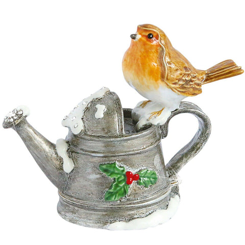 CRAYCOMBE TRINKET BOX - Robin on Watering Can