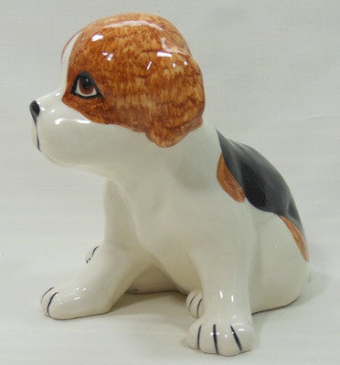 Babbacombe Pottery beagle pup - Free postage to UK addresses.