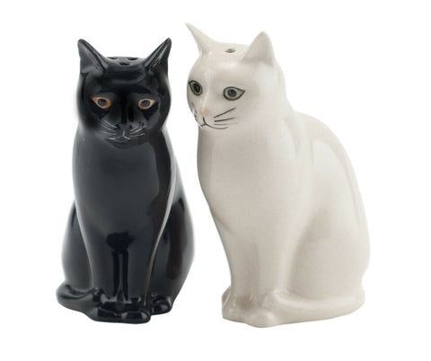 "Quail Ceramics: Salt & Pepper Pots: Cats ""Daisy and Lucky"""