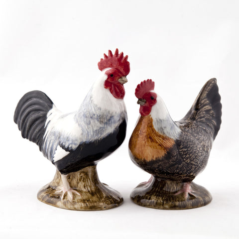 Quail Ceramics: Salt & Pepper Pots: Dorking Chickens