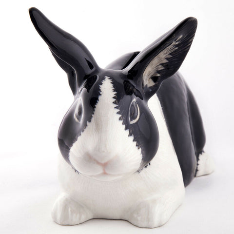 Quail Ceramics: Money Box: Dutch Rabbit - B and W