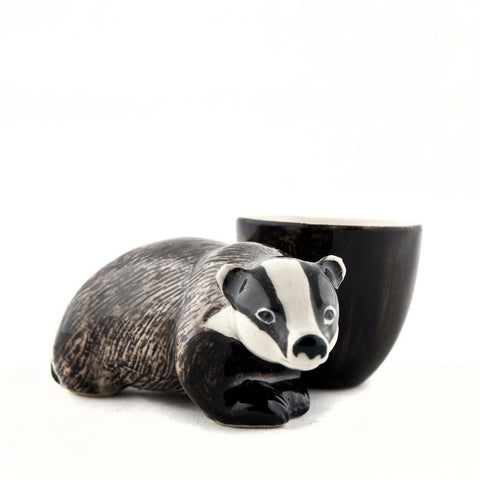 Quail Ceramics: Egg Cup With Badger