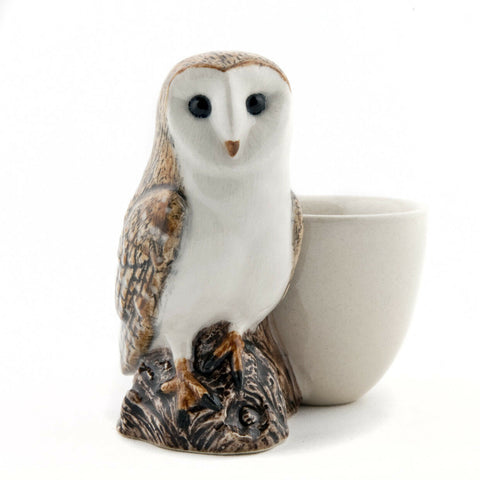 Quail Ceramics: Egg Cup With Barn Owl