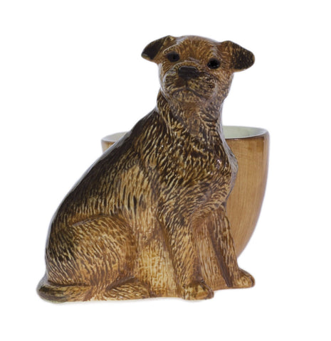 Quail Ceramics: Egg Cup With Border Terrier