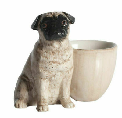 Quail Ceramics: Egg Cup With Pug - Fawn