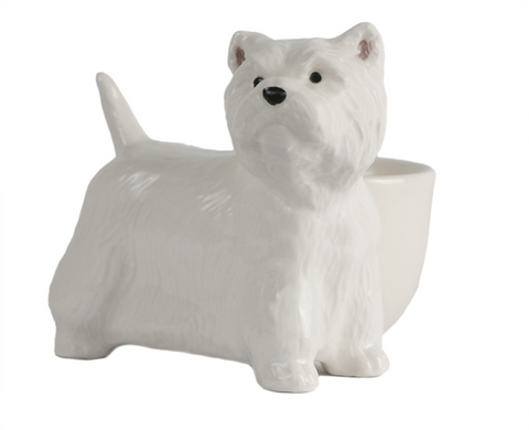 Quail Ceramics: Egg Cup With West Highland Terrier