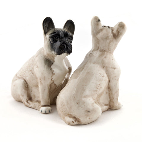 Quail Ceramics: Salt & Pepper Pots: Fawn French Bulldogs