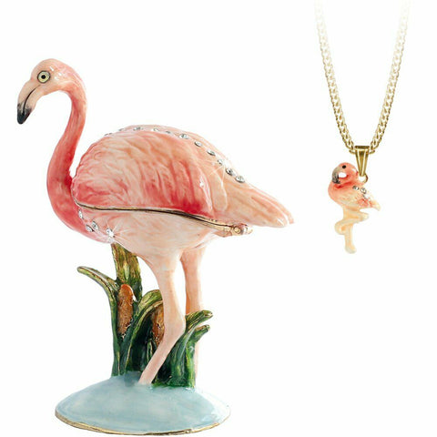 Arora Design Trinket Box Hidden Secrets Flamingo
