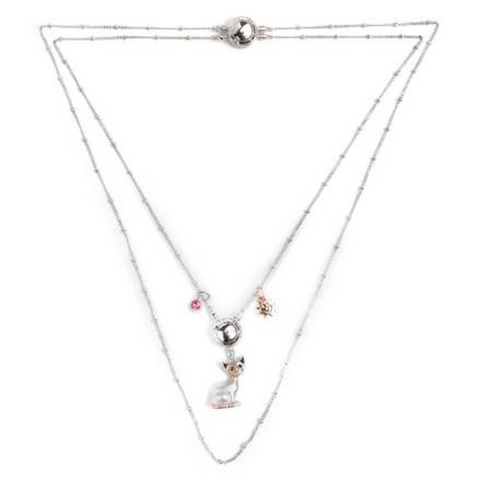 Rosina Wachtmeister: Necklace: Cat: Gatto dargento