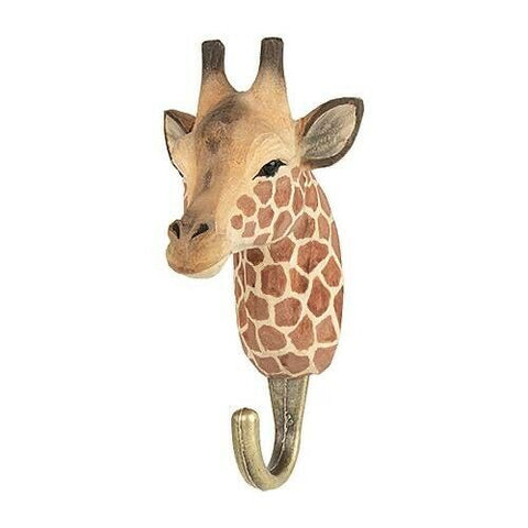 Wildlife Garden: Hook: Hand Carved - Giraffe