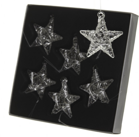 HEAVEN SENDS - GLASS STARS - SET 6