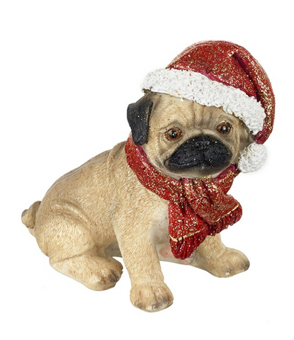 HEAVEN SENDS - PUG WITH CHRISTMAS HAT