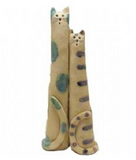 Pottery Cats - Tall Cat Couple ~ Happily Married