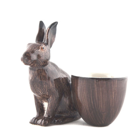 Hare With Egg Cup from Quail Ceramics