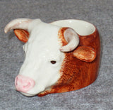 Hereford Bull face Egg Cup from Quail Ceramics