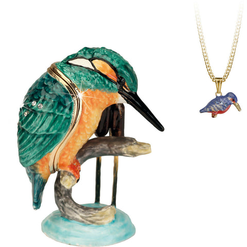 Arora Design Trinket Box Hidden Secrets Kingfisher