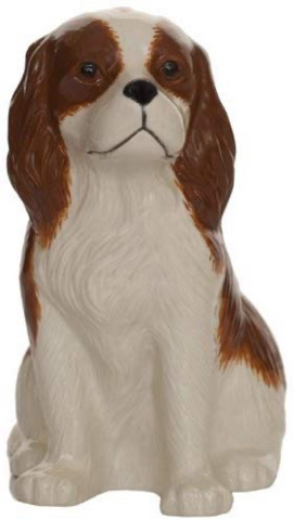 Quail Ceramics: Money Box: King Charles Spaniel - Blenheim
