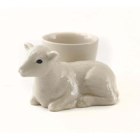 Quail Ceramics: Egg Cup With Lamb