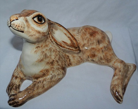Babbacombe Pottery Moon Gazing Hare Lying Down