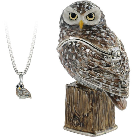 Arora Design Trinket Box Hidden Secrets Little Owl