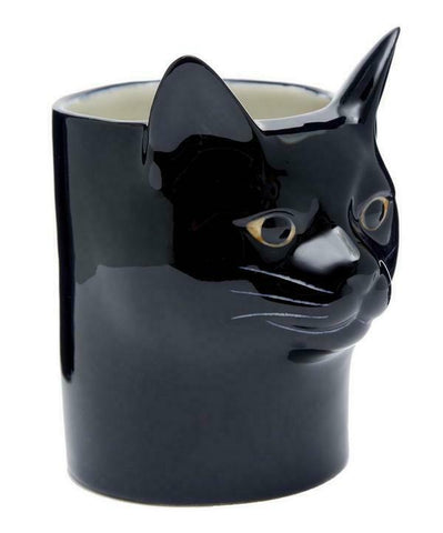 Quail Ceramics: Pencil Pot: Cat: Lucky