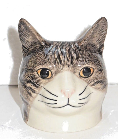 Millie a Cat Face Egg Cup from Quail Ceramics