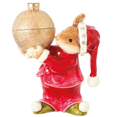 Arora Design Craycombe Mouse with Bauble Trinket Box
