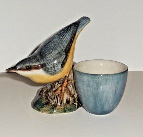 Quail Ceramics: Egg Cup With Nuthatch