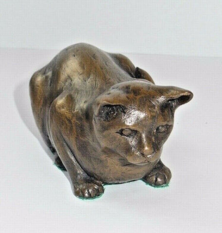 ORIELE BRONZE - CROUCHED CAT