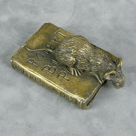 ORIELE BRONZE - MOUSE ON POETRY BOOK