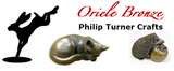 Oriele Bronze: Mouse asleep in flower