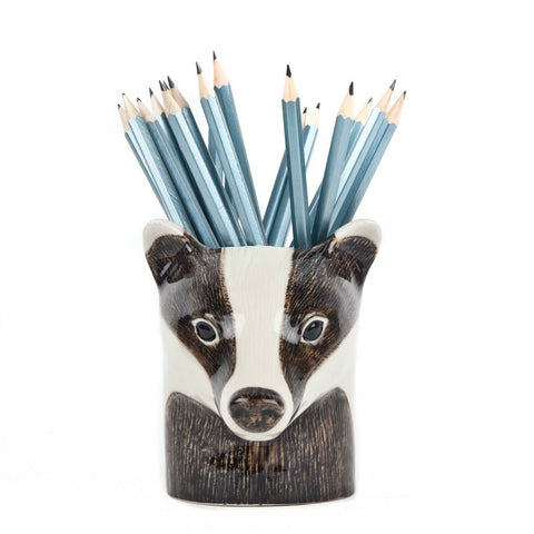 Quail Ceramics: Pencil Pot: Badger