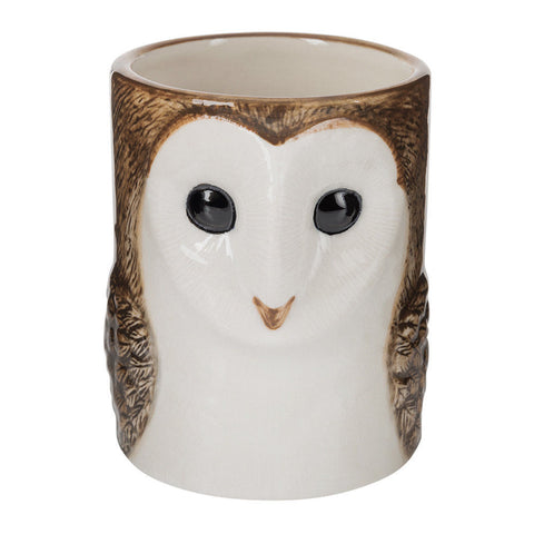 Quail Ceramics: Pencil Pot: Barn Owl