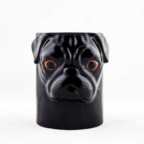 Quail Ceramics: Pencil Pot: Black Pug