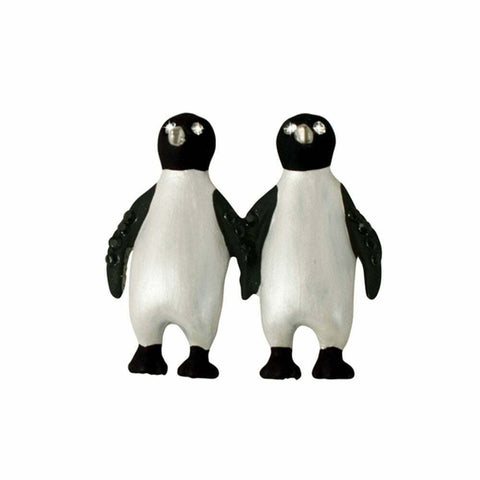 Rodney Holman: Brooch - Penguin Pair