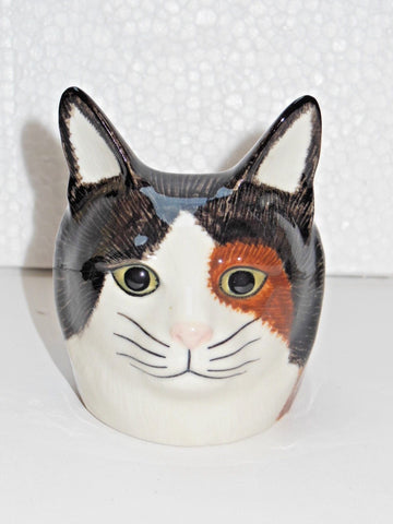 Poppet a Cat Face Egg Cup from Quail Ceramics