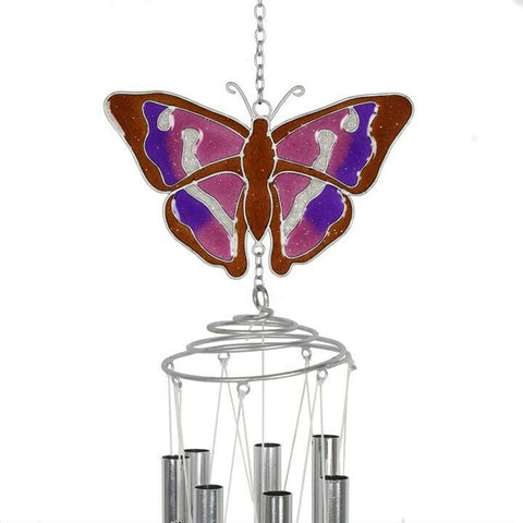 Purple Emperor Butterfly Windchime