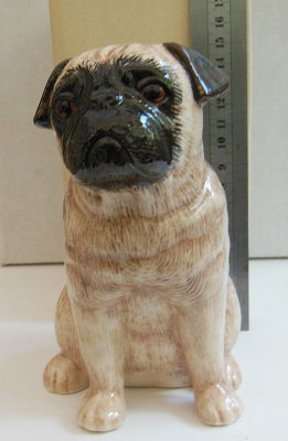 Quail Ceramics - Fawn colored Pug Money Box