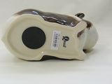 Quail Ceramics - Long Haired Guinea Pig Money Box - Brown and White