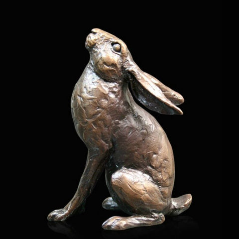 "Richard Cooper Bronze – ""Moon Gazing Hare - Medium"""