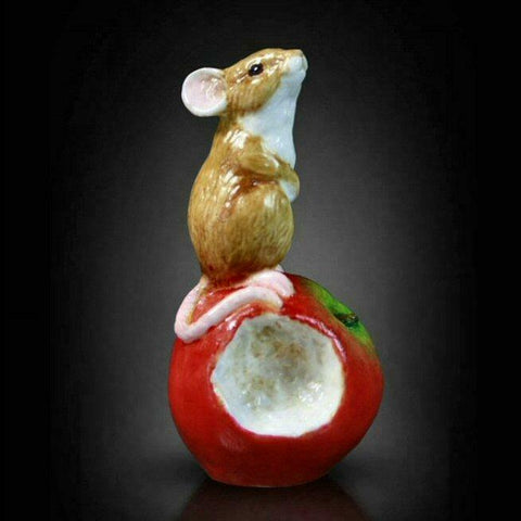 RICHARD COOPER STUDIO - BONE CHINA - MOUSE ON APPLE