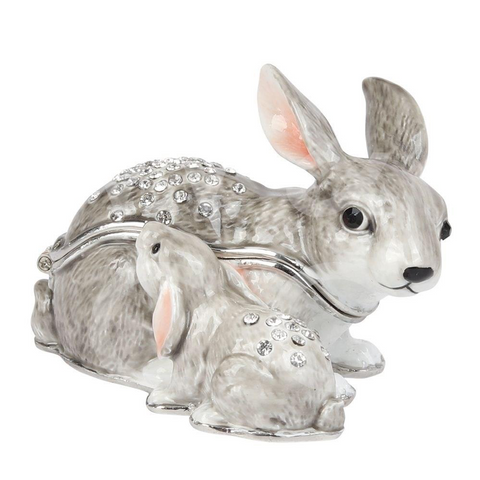 Juliana: Trinket Box: Treasured Trinkets: Rabbit & Baby