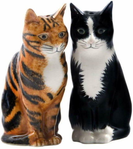 "Quail Ceramics: Salt & Pepper Pots: Cats: ""Rueben & Sparkie"""