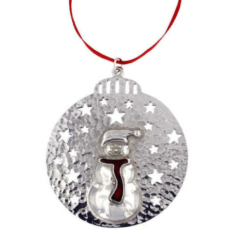 ST JUSTIN - Bauble with stars - Snowman - Tree decoration