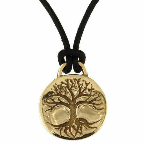 ST JUSTIN BRONZE - TREE OF LIFE - DISC PENDENT